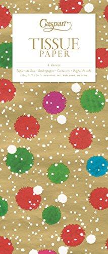 (Caspari mit beleuchtet Weihnachten Seidenpapier Tissue Paper Snowy Pom Poms)