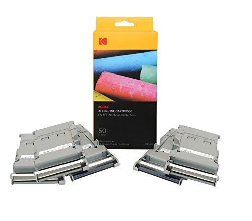 Kodak-Mini Fotodrucker-Patrone-PMC, ALLES-IN-EINEM Papier- und Farbtinten-Nachfüllpack - 50 Blätter.