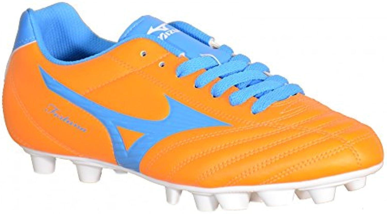 Mizuno - Mizuno Fortuna 4 MD Botas de futbol Naranja Cuero 158154