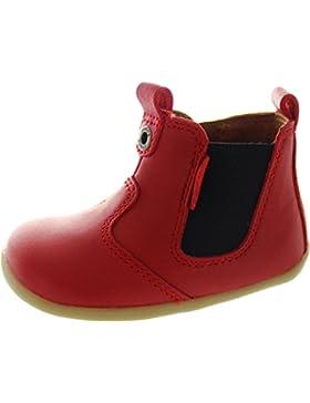 Bobux Step Up Jodphur Boot - Patucos de piel para niña rojo Red