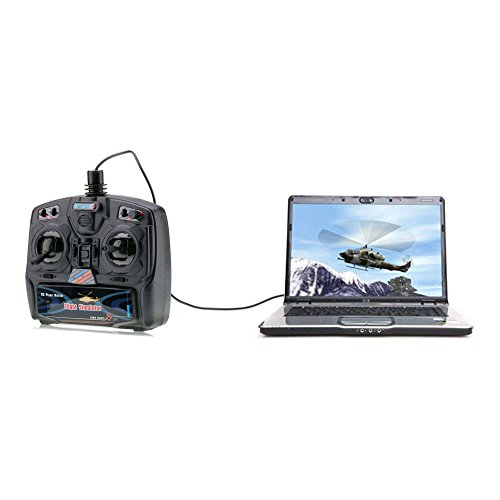 8-Kanal Fernbedienung USB Flugsimulator inkl. FSM Software (Quadcopter Flight Simulator)