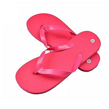 zhENfu donna pantofole & amp; flip-flops Comfort estivo PVC outdoor casual tacco piatto Blu Verde Rosso Nero giallo a piedi Ruby