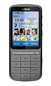 Nokia C3-01 Telefono Cellulare, Fotocamera da 5 MP, Bluetooth, Grigio