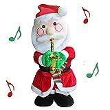 Tonsen Santa Claus Figura Twisted Hip Twerking Singing Juguete eléctrico Adornos con una Bufanda Regalo para niños, niños