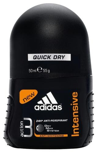 adidas Action 3 Deo Roll-on For Men Intensive 50 ml, 2er Pack (2 x 50 ml)
