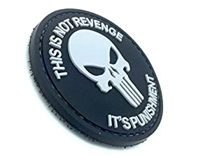 This Is Not Revenge Punisher Noir PVC Airsoft Velcro Patch