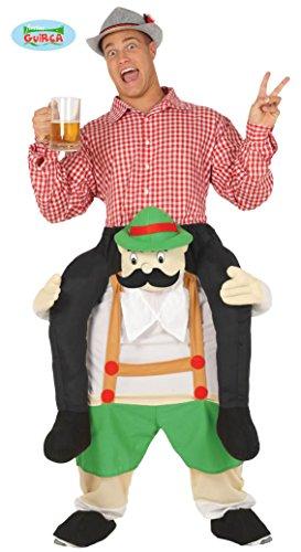 Bayer Huckepack Kostüm für Herren Oktoberfest Aufsitz Kostüm Carry Me Größe:L