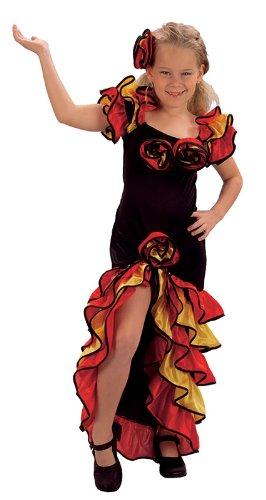 Ballsaal-Flamenco-Kostüm für Mädchen der Altersklasse 10 - (Ballsaal Kostüm Mädchen Für)
