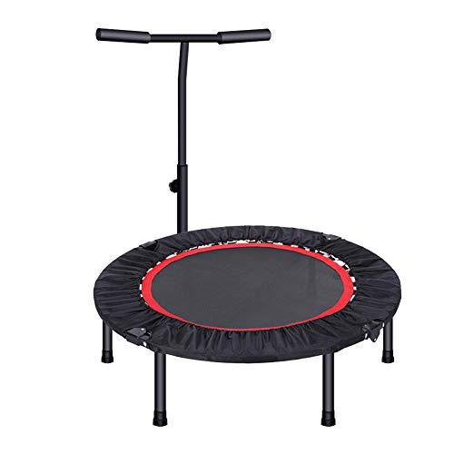Gartentrampoline Trampoline 40 Zoll Mini Übung springen Bett für Erwachsene, Indoor Fitness mit Hubstange Bar für Kinder 3,3 Fuß Übung Ausrüstung