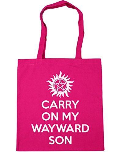 hippowarehouse-carry-on-my-wayward-son-tote-shopping-gym-beach-bag-42cm-x38cm-10-litres