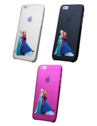 Cover IPHONE X-8-8PLUS 6 - 6 PLUS - 6S - 6S plus - 7 - 7 plus - FROZEN Trasparente VARI COLORI UltraSottili AntiGraffio Antiurto Case Custodia Nero