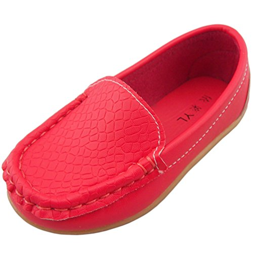 ppxid-boys-girls-soft-footwear-slip-on-loafers-oxford-shoes-red-9-uk-size