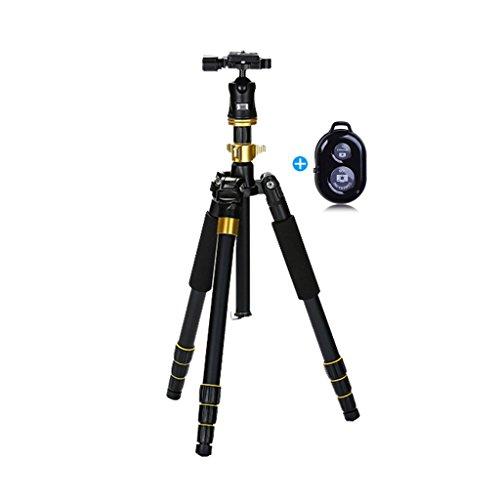 Preisvergleich Produktbild Brilliant firm Zubehör Stative Triangle Travel Camera Stativ ausziehbar Einbeinstativ 4-teiliges Einbeinstativ 180 Grad drehbar (Color : Black,  Size : High 133cm)