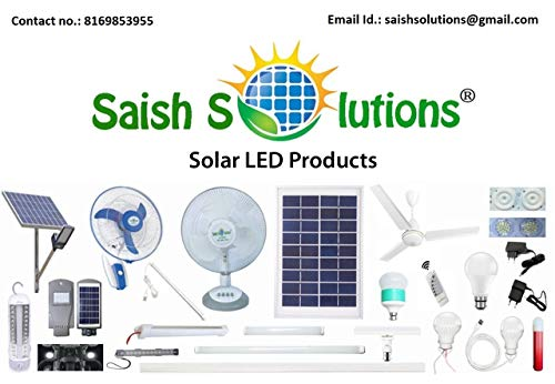 Saish 12 V DC Table Fan Directly Run Through Solar Panel or Any 12 Volts Battery (White)