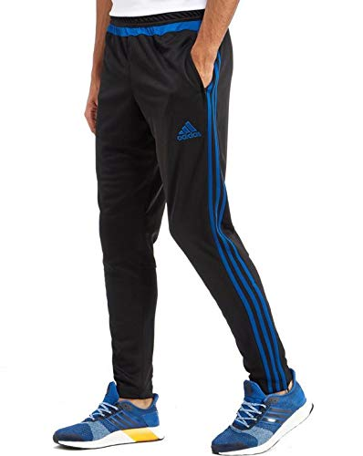 adidas Herren Torwarthose Tiro15 Training Pants Trainingshose, Black/eqtblu, S (Tiro Pants Training Adidas)