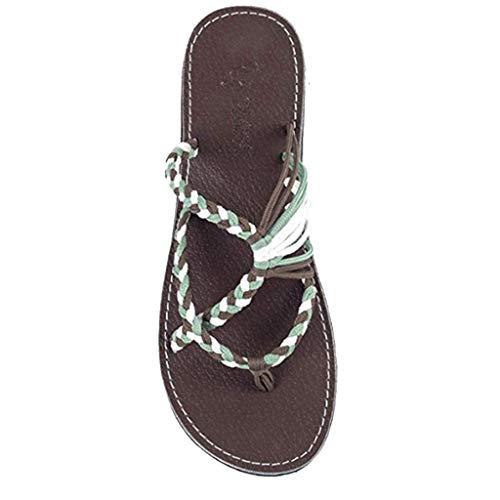 KItipeng Chaussures Femme--Tongs Sandales Femmes Plates,Flip-Flops for Women, Chaussures De Plage & Piscine Femme,Pas Cher Bout Ouvert Leisure Grande Taille Claquette,Jaune, Kaki, Bleu,35-43Eu