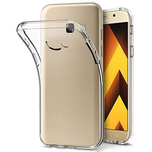 HINUOR Samsung Galaxy A3 2017 Hülle - Ultra Clear Samsung Galaxy A3 2017 Handyhülle Silikon Transparent, Soft TPU Bumper Case Cover Durchsichtige Handytasche Schutzhülle für Samsung Galaxy A3 2017