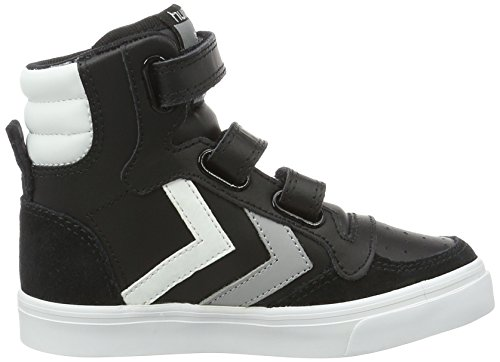 Hummel Stadil Jr Leather, Sneakers Basses Mixte Enfant Noir (Black-676)
