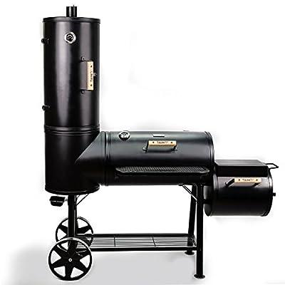 TAINO Chief 130 XXL Smoker 130kg BBQ GRILLWAGEN Holzkohle Grillkamin 3,5 mm Stahl Profi-QUALITÄT Räucherofen