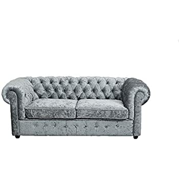 Abreo Empire 3, 2,1 Seater Sofa In Grey Silver Crushed ...
