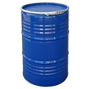 tonneau baril f t m tallique bleu avec couvercle 213 l 23031 jardin. Black Bedroom Furniture Sets. Home Design Ideas