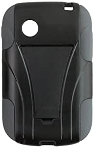 Zizo PC/Silicon Hybrid Cover with Kickstand for LG 306G - Retail Packaging - Gray