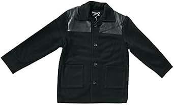 knightsbridge donkey jacket with leather trim harrington jacket men 39 s winter jacket various. Black Bedroom Furniture Sets. Home Design Ideas