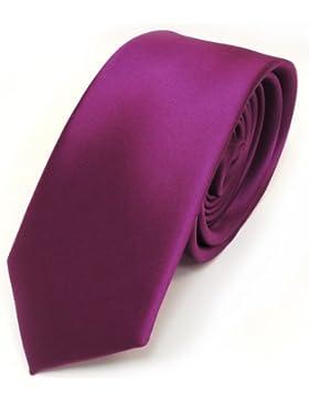 Corbata estrecha de TigerTie, monocromo liso en diferentes colores