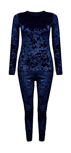 Islander Fashions Damen Crushed Velour Velvet 2 St�ck -