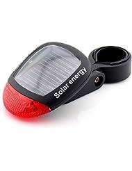 ma-on Solar Powered Clip de la bicicleta de trasera cola luz bicicleta Accesorios seguridad LED trasera lámpara de cola