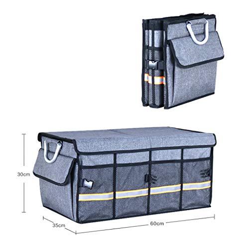 Cassiel Y Boîte De Rangement pour Voiture - Facile À Nettoyer, Pliable, Poignée en Aluminium (Gris),#2