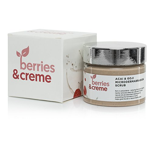 Bayas y crema orgánicos Acai y Goji microdermoabrasión Peeling y Detox con cierre autoadhesivo para focos, celulitis, y acné cicatrices en la cara y el cuerpo