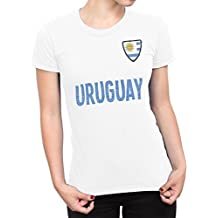 De Las Mujeres Uruguay Country Name and Badge Camiseta Fútbol Copa del mundo2018 Señoras Sports