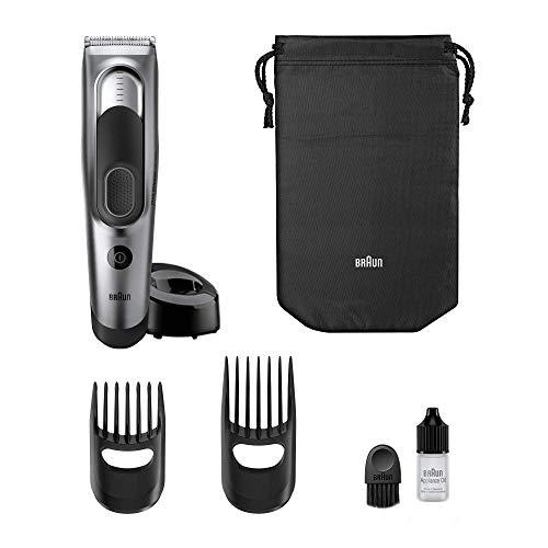 Braun tagliacapelli hc5090, rasoio elettrico barba, regolabarba uomo e tagliacapelli con 17 impostazioni di lunghezza e 2 accessori