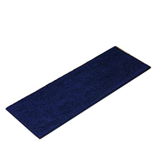 GSJJ Lange Badematte matten Mikrofaser Chenille, Rutschfeste Teppich, Shag Saugfähig Weich Waschbar Bad dusche Teppich grau, 7 Farben,G,50 * 140cm -