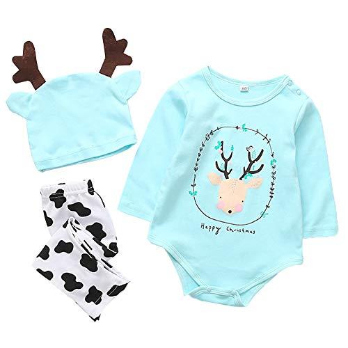 (SPFAZJ 2018 setzen Baby nach Hause Anzug Set Cartoon Weihnachten Kinderbekleidung DREI)