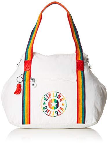 Kipling - Art Nc, Bolsos maletín Mujer, Blanco Rainbow