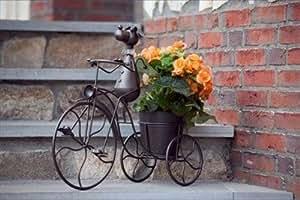 Dekofigur gartendeko blumentopf hund auf fahrrad mit - Gartendeko fahrrad ...