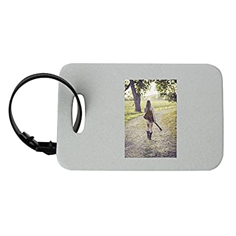 Guitar, Country Road, Young, Female luggage tag