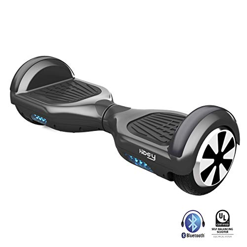 """Hiboy Hoverboard Elektro Scooter 250W mit UL2272 Zertifikat, Bluetooth Lautsprecher 3.5W, 6,5"""" Räder, 10 km/h - TW01 - Schwarz"""
