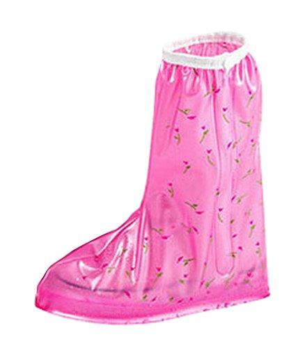 Praktische Wasserdichte Überschuhe Regen Stiefel Set Schuhpflege , Rosa