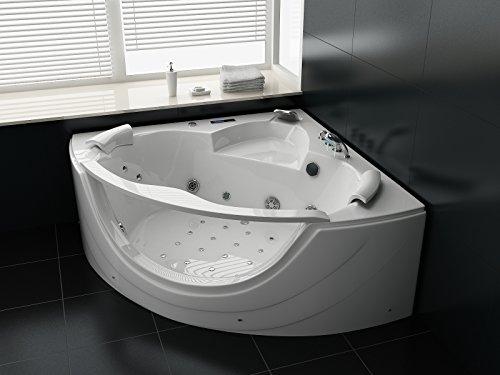 Luxus Whirlpool Badewanne 150×150 in Vollausstattung (Massage) – Sonderaktion
