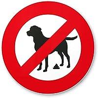 No Perros WC/No Perros inodoro Prohibido Perros kacken – cartel de jardín, plástico