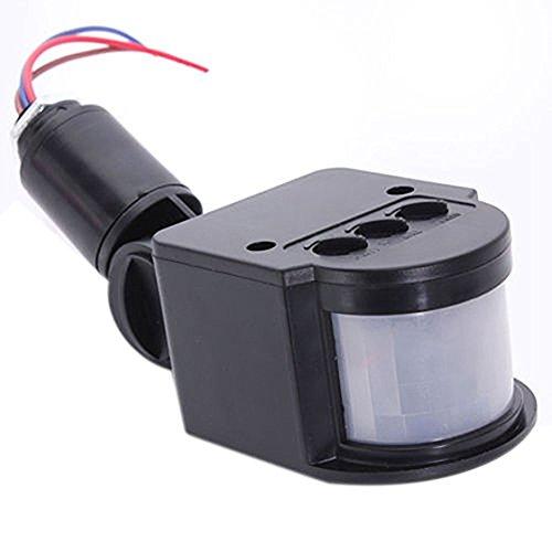 O(R)LED Sicherheits Licht Infrarot PIR Bewegungs Sensor Detektor Outdoor Wandleuchte Schwarz (Outdoor-infrarot-licht)