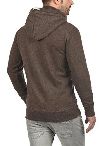 !Solid TripZip Herren Sweatjacke Kapuzenjacke Hoodie mit Kapuze Reißverschluss und Fleece-Innenseite, Größe:3XL, Farbe:Coffee Bean Melange (8973) - 3