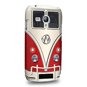 Case88 Premium Designs Red Retro Volkswagen Mini Van VW Bus Coque protectrice pour Samsung Galaxy S3 mini (pas Normal S3 !)