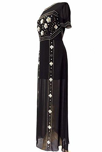 Womens Embelli Noir Robe Maxi Robe De Soirée Noir