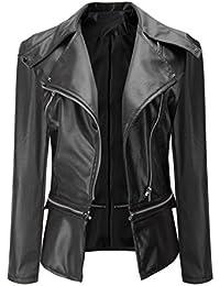 be845fb51268 Perfecto En Cuir Femme,OverDose Hiver Vestes Cuir Manteau Blouson Jacket  Outwear