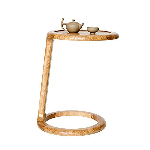 ZHILONG Table à thé Nord Europe moderne en bois massif rond Mini table basse ( Couleur : B )