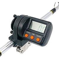 ANLIN 999 m Contador de línea de Pesca ABS plástico Pantalla Digital Buscador de Profundidad Carrete medidor de Calibre Herramienta de Pesca